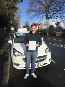 The sun was shining on Dylan in Wrexham today! Passing with only 4 minors. A great drive, you were an absolute pleasure to teach. Safe driving in your Corsa 🚗🚗