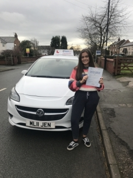A great drive for Carys yesterday passing the new style driving test in Wrexham with 7 minors. Safe driving in your Clio 🚗