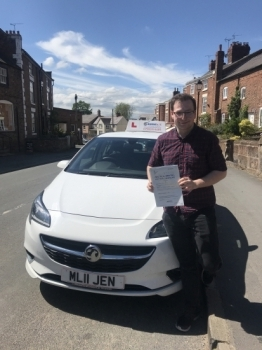 Well done to George who passed in the sunshine today in Wrexham. So pleased for you. You can now swap your two wheels for four! Safe driving 🚗...