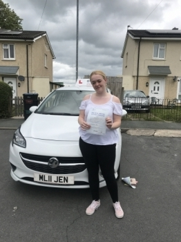 A great first time pass for Leah in Wrexham this morning with 7 minors. I'm sure the examiners are glad the flower bed is still intact 🙈. You've been a pleasure to teach, happy and safe driving 🚗...